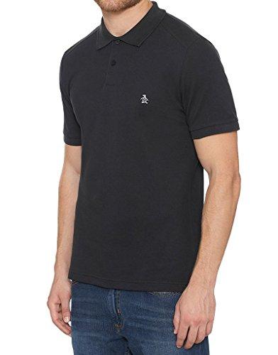 Herren Polo T-Shirt vonOriginal Penguin 'Winston' kurzärmlig (True Black) L (Designer Winston)