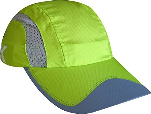 EKEKO Xrace Running Cap, vsystem, Breathable microperforated fabric with Reflective Details, Running and Sports in General. (Green)