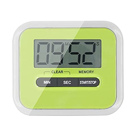 I-Dragon Mini Portable Digital LCD Kitchen Timer Magnetic Cooking Large Count Down Up Clock Loud Alarm Retractable Stand for Home