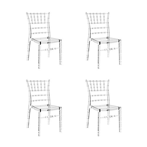 Lot de 4 chaises transparentes - Napoleon
