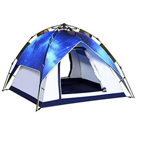 LEGOUGOU 3-4 Doppel-Camping-Automatikzelt Outdoor-Doppel-Mehrspieler-Stern-Campingzelt