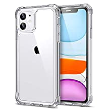 ESR Air Armor Designed for iPhone 11 Case, [Military Grade Protection] [Shock-Absorbing] [Scratch-Resistant] Hard PC + Flexible TPU Frame for the iPhone 11, Clear