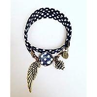 Liberty Juwel Armband wei/ßes Armband Frau Ananas Armband Liberty Ananas Stoff Armband Liberty Juwel Geschenkidee