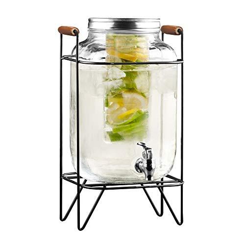 Style Setter Beck 210741-GB Teesieb aus Glas, mit Metallständer und Deckel, transparent -