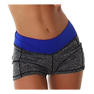Damen Hotpants Pole Dance Cheerleader Hip Brief Yoga Short Pants