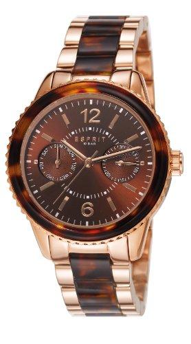 Esprit ES106742004 - Reloj analógico de cuarzo para mujer, correa de acero inoxidable chapado color oro rosa