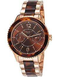 Esprit Damen-Armbanduhr Marin Tortoise Rose Analog Quarz ES106742004