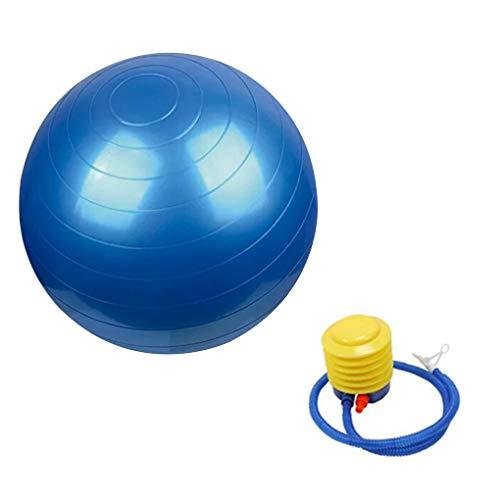 (Lidahaotin Fitness PVC Anti-Burst-Yoga-Übung Kugel Stabilität Rutschhemmende Kugelübungsgeräte Blau 55cm)