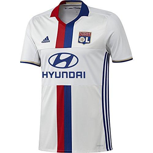 adidas OL H JSY Première - T-shirt de club Olympique de Lyon 2016 pour Homme, Blanc / Bleu / Rouge - 3XL, Taille: 3XL