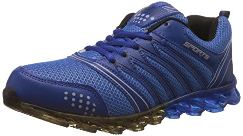 Steemo Men's Navy and Blue Running Shoes - 8 UK/India...
