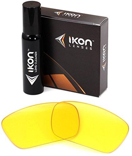 Polarisierte Ikon Ersatzgläser für Costa Del Mar Isabela Sonnenbrille, 11 Farben, Herren, HD Yellow, Einheitsgröße