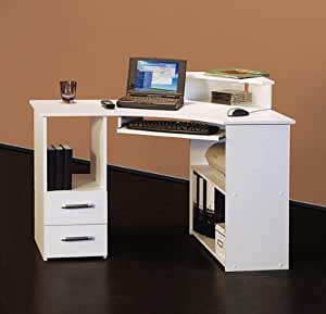 m beldesign team 2000 4505 bureau d 39 angle blanc 115 cm cuisine maison. Black Bedroom Furniture Sets. Home Design Ideas