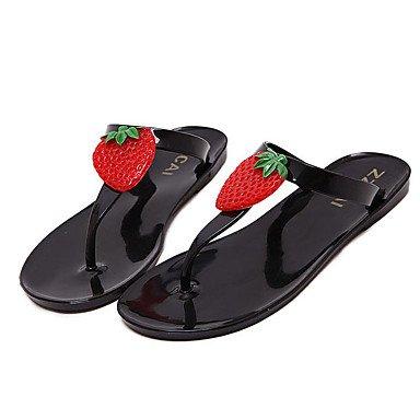 Donne'spantofole & flip-flops Comfort estivo PVC Casual tacco piatto Applique marrone nero altri US6 / EU36 / UK4 / CN36