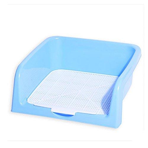 DAN Hund Toilette, tragbare Kunststoff Toilette für Welpen Indoor Hund Toilette mit umzäunt, blue (Indoor Puppy Potty)