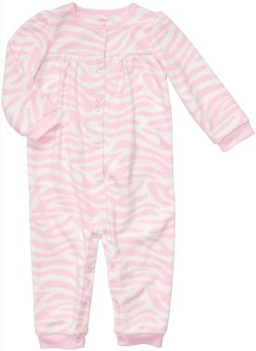 Carter's Overall Strampler Einteiler Fleece girl Mädchen Schlafanzug rosa getigert (0-24 Monate) (80) (Fleece-overall Carters)