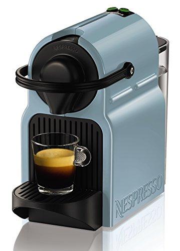 Krups Nespresso Inissia - Cafetera, sistema Thermoblock de rápido calentamiento, incluye 16 cápsulas de café, color azul