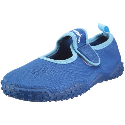 Playshoes Aquaschuhe, Badeschuhe klassisch mit höchstem UV-Schutz nach Standard 801 174797, Unisex-Kinder Dusch- & Badeschuhe, Blau (blau 7), EU 18/19