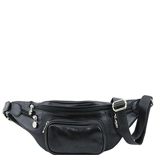 Tuscany Leather - Sac banane en cuir - Noir - Homme