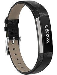 SnowCinda Bracelet pour Fitbit Alta et Fitbit Alta HR,Bracelet Reglable de Remplacment en Silicone Sport Band avec Boucle Metal en Acier Inoxydable