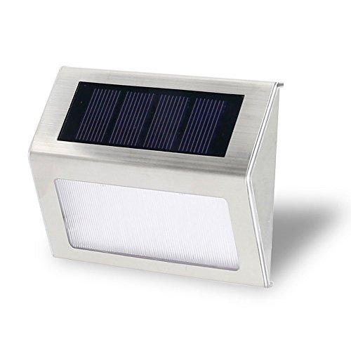 Loveusexy Solar Step Lights 3 LED Solar Powered escalier éclairage extérieur pour les marches chemins patios terrasses étanches 1PC