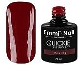 Emmi-Nail UV-Nagellack in glänzendem Dunkelrot, ohne Schwitzschicht, kein Unter- und Überlack erforderlich, 7.5 ml