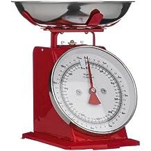 Premier Housewares Peso de cocina (hasta 5 kg), diseño retro, color rojo