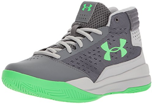 Under Armour Jungen UA Bgs Jet 2017 Basketballschuhe, Grau (Graphite), 38 EU (Leder-kinder-basketball)