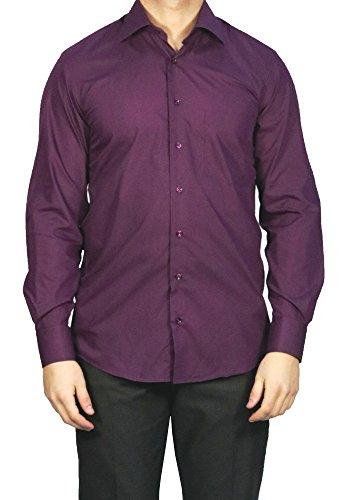 MUGA MMUGA Herrenhemd Extra Langarm Violett