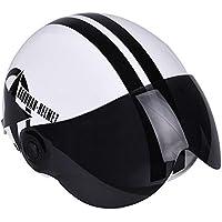 Color a 270.00*245.00*150.00mm YouN Casco de moto de media cara abierto casco estrella de cinco puntas color negro