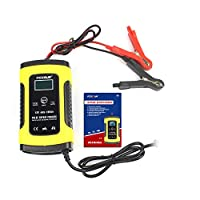 12V 5A LCD Car Motorcycle Pulse Repair Battery Charger Lead Acid Storage Charger
