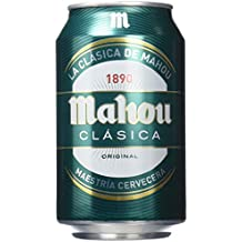 Mahou Clasica Cerveza - Paquete de 24 x 330 ml - Total: 7920 ml