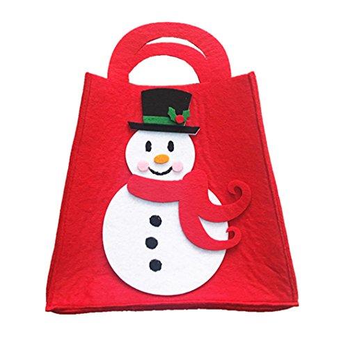 Eastever Santa Claus Gift Bag Tasche, Felt Tuch Handtasche für Urlaub Festival Dekorationen - (Nerd Für Kostüm Frauen Ideen)