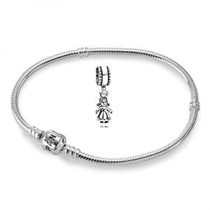 Kit bracelet paNDORA 19 cm 59702–19HV 790860 perle petite fille