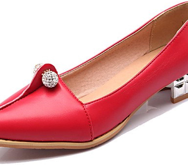 GGX/ Zapatos de mujer-Tacón Bajo-Confort / Puntiagudos-Tacones-Oficina y Trabajo / Casual-PU-Negro / Rojo / Blanco...