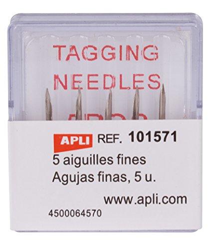 APLI 101571 - Pack de 5 agujas finas para etiquetadora textil
