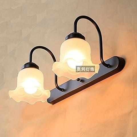 XiangMing Un idilliaco prima del doppio specchio di luci di testa , doppia testa small cap (bianco) +3 W LED