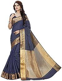Vatsla Enterprise Women's Silk Saree (VTSLF023BLUE63_BLUE)