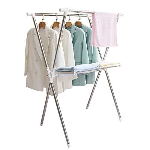RTTyj Trockengestell Wäschetrockner aus Edelstahl zum Falten, Wäschetrockner einziehbar, multifunktionaler Lufttrockner