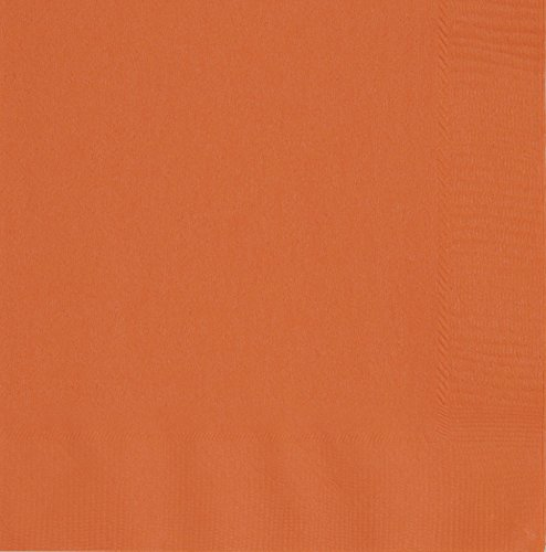 Party Supplies Orange (Papierservietten, 16,5 cm, Orange, 50)