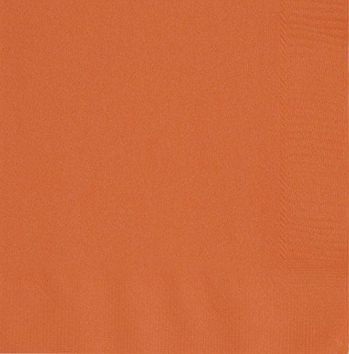 Unique Party -  Servilletas de Papel - 16,5 cm - Naranja - Paquete de 50 (32242)
