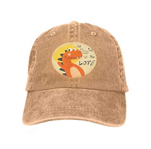 Adult Adjustable StructuSand Color Baseball Cowboy Hat Cute Dino Dinosaur printhand Drawn Style Cute Dino Dinosaur Sand Color