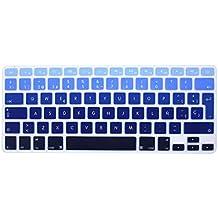 """Wayes - española Cubierta del teclado / Keyboard Cover para MacBook Pro 13"""" 15"""" 17"""" & Air 13"""" EU/ISO Disposición Silicone / Silicona Skin (Distribución del teclado de la UE / ISO) - sombra azul"""