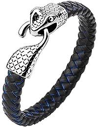 Ring Schlange Edelstahl Männer Herren Damen Biker Gothic LARP Metal Schlangen