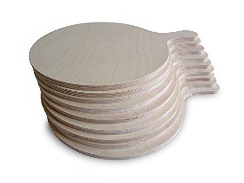 Tagliere per pizza rotondo, misuram, 9 pezzi, legno, medium