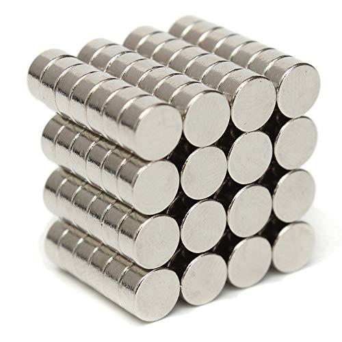 HuhuswwBin Neodym-Magnete, Zylinderform, Neodym-Magnet, N50, magnetisch, rund, 6 x 3 mm, super stark, seltene Erde, Neodym-Magnete für Kunst, Handwerk, Hobby, Zuhause und Büro Multi (Handwerks-magneten Kleine)