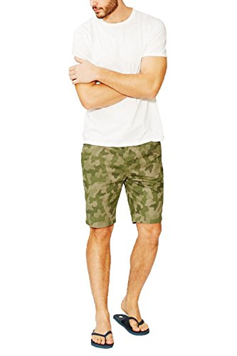 Threadbare Herren Short grün grün Gr. 30 Taille, Digital Camo - Khaki Green (Digital Short Camo)