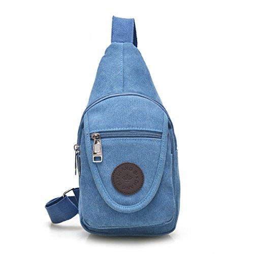 BULAGE Pack Brusttaschen Lässig Leinwand Reisen Multifunktional Männer Schulter Kleine Atmungsaktiv Personalisiert Einfach Zu Bedienen Bequem Blue