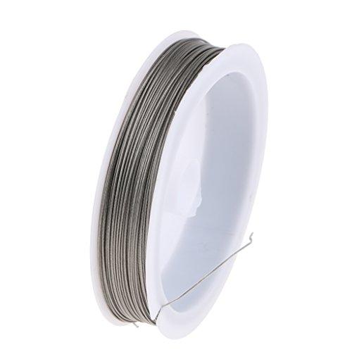 FLAMEER 40/70m Twisted Coil Stahlseile Drahtseile, aus Edelstahl - 40m-0,6 mm