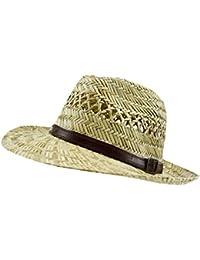EveryHead Fiebig Sombrero De Mujer Panamá Paja Verano Playa Vacaciones La  Isla Con Cinta Piel En 8da5397d5f6
