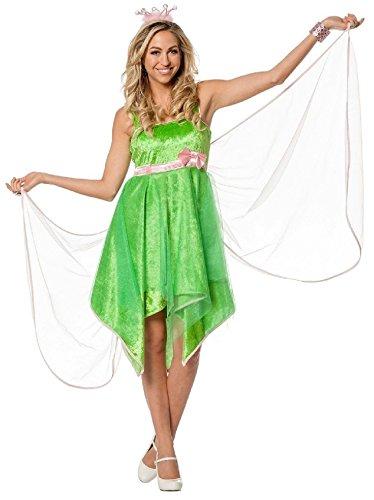 L3200970-44 grün Damen Fee Elfen-Kleid Feen-Kostüm Gr.44